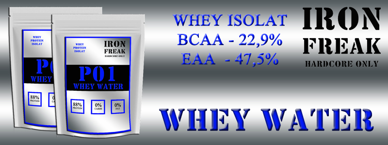 IRON FREAK P01 WHEY WATER BANNER